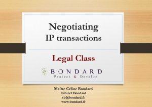Legal Class- Negotiating IP transactions